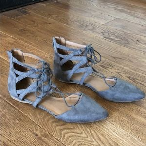 Grey Mossimo Pointed Flats